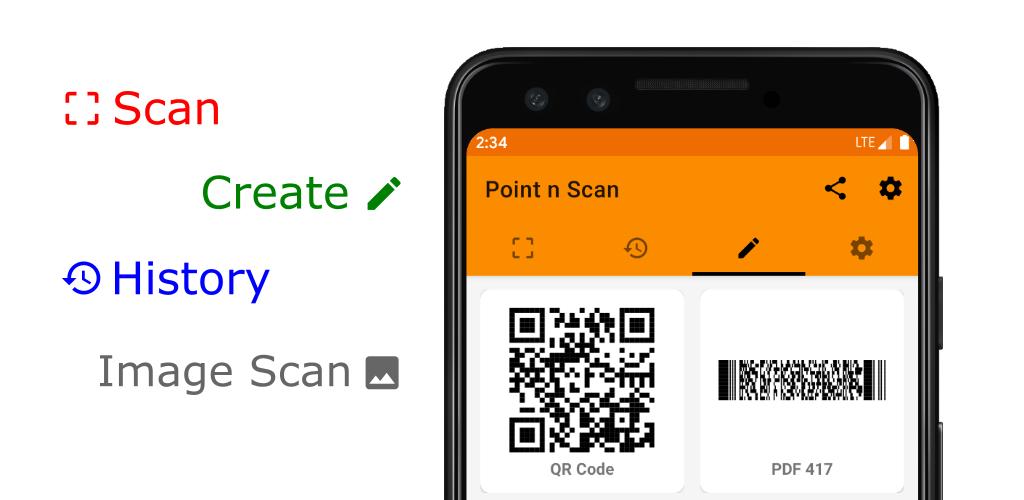 Point n Scan Create QR, barcode, EAN, 1.0.2 full